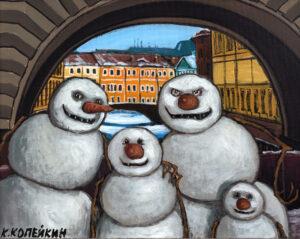 Галерея картин художника Николая Копейкина в Artbox Hotel