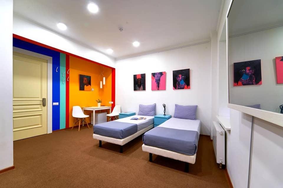 Четрехместный номер в Artbox Hotel для семьи